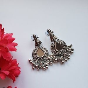 Mirror earrings, handpicked from India